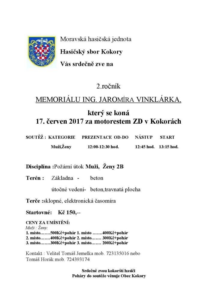memorial pozvanka